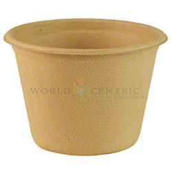 World Centric Bagasse/Wheatstraw Soufflé Hot Cup - 4 oz.