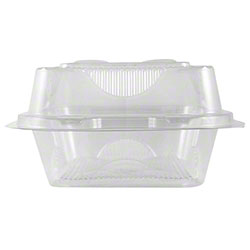 "World Centric Clear Take Out Container - 6"" x 6"" x 3"""