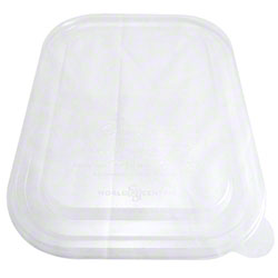 "World Centric Single Compartment Tray Lid - 10"" x 7.5"""