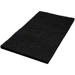 "Americo Black Stripping Floor Pad - 12"" x 18"""