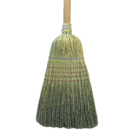 "Broom|warehouse| 100% Corn 42"""" Wood Handle"