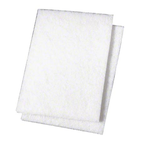 "SSS® Light Duty Scouring Pad #98 - 6"" x 9"", White"