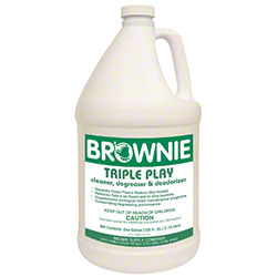 Brownie Triple Play Cleaner Degreaser & Deodorizer - Gal.