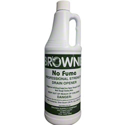 Brownie No Fume Professional Strength Drain Opener - Qt.