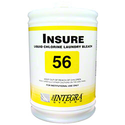 Integra® Insure Liquid Chlorine Laundry Bleach 56 - Gal.