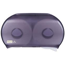 Bruco Twin JRT Tissue Dispenser - Black Pearl