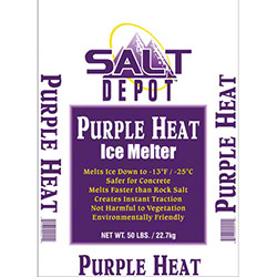 Salt Depot™ Purple Heat Ice Melter - 50 lb.