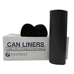 Inteplast LLDPE Coreless Can Liner - 3 x50, 1.2 mil, Black