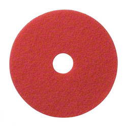 SSS® Red Spray Buff Floor Pad - 14""