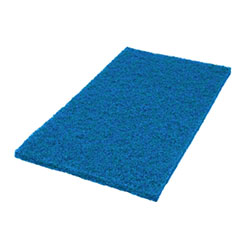"SSS® Blue Square Edge Floor Pad - 14"" x 20"""