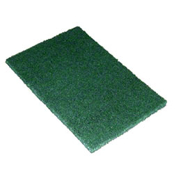 "SSS® #96 Green Medium Duty Hand Pad - 6"" x 9"""