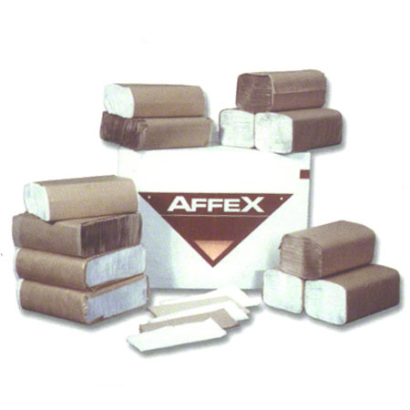 "Affex Single Fold Towel - 9.25"" x 10.25"", White Embossed"
