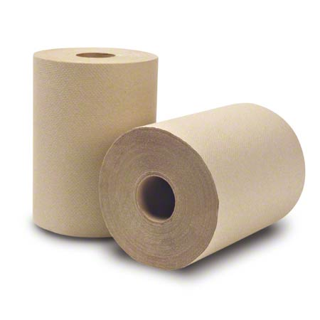 """WausauPaper® EcoSoft™ Roll Towel - 8"""" x 350', Natural"""