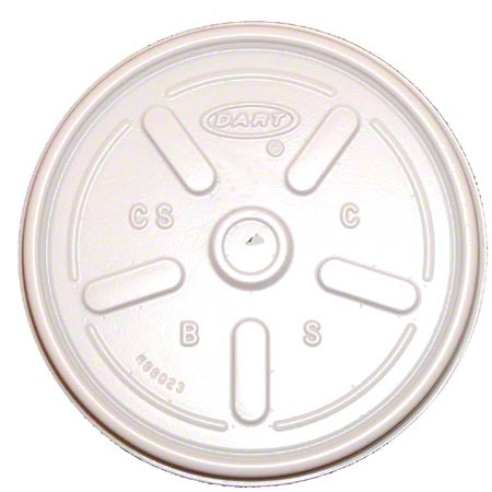 Dart® White Vented Lid For 6, 8, 10, 12, 14 oz.