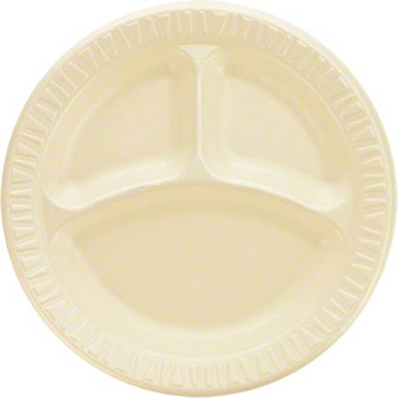 "Dart® Quiet Classic® Plate - 9"" Cmpt, Honey"