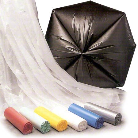 Inteplast HDPE Institutional Can Liner - 38 x 60, 22 mic, BK