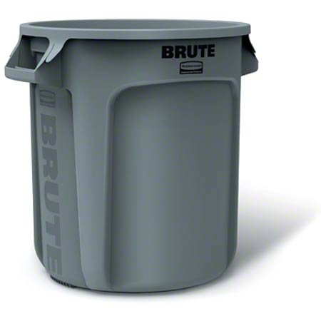 Rubbermaid® BRUTE® Round Container - 10 Gal., Gray