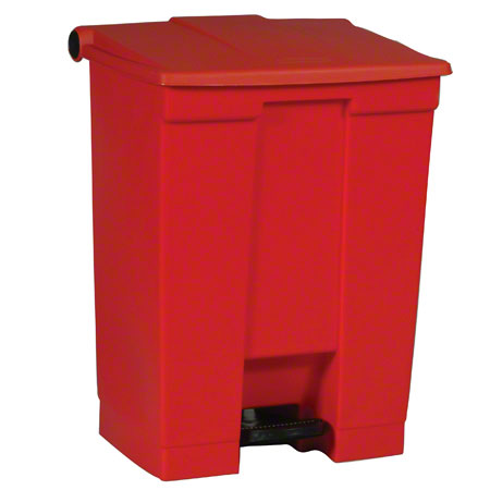 Rubbermaid® Step-On Can - 18 Gal., Red