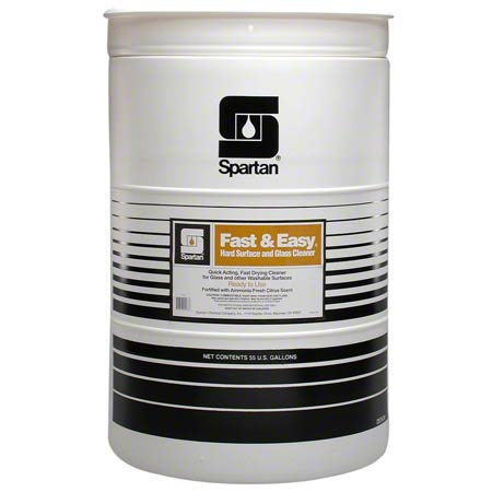 Spartan Fast & Easy® Hard Surface & Glass Cleaner- 55 Gal.