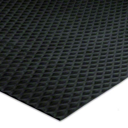 "TRACTION TREAD 1/8"" 58X40 BLACK RUBBER NITRILE RUNNER"