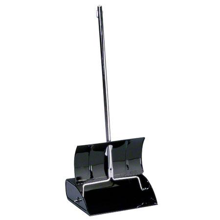 * LOBBY DUST PAN BLACK METAL 6/CS LID SELF OPEN CLOSE
