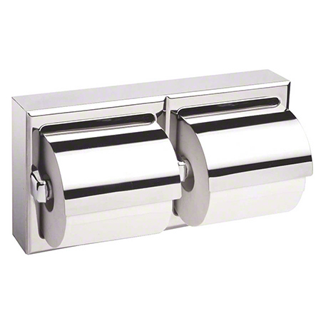 Bobrick Toilet Tissue Dispenser w/ Hoods For Two Rolls