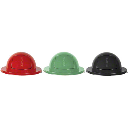 Rubbermaid® Dome Top For Steel Drum - Empire Green