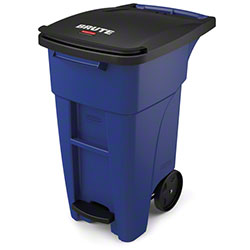 Rubbermaid® BRUTE® Step-On Rollout - 32 Gal., Blue