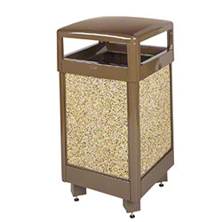 Rubbermaid® Aspen 29 Gal. Hinged Top Container - Brown