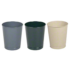 Rubbermaid® Open Top Round Steel Wastebaskets