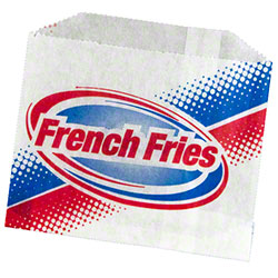Grease Resistant French Fry Bag - 4 7/8 x 4