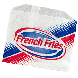 Grease Resistant French Fry Bag - 4 1/2 x 3 1/2