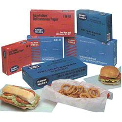 "Handy Wacks Medium Grade Food Wrap Paper - 15"" x 10 3/4"""