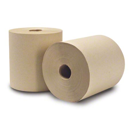 "WausauPaper® EcoSoft™ Roll Towel - 8"" x 630', Natural"