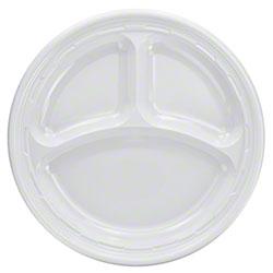 """Dart® Famous Service® Impact Plastic Plate - 9"""" Cmpt."""