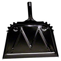 """Impact® Black Metal Dust Pan - 16"""""""