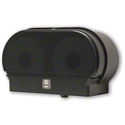 Palmer Mini-Twin Standard Tissue Dispenser-Black Translucent