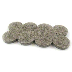 "PRO-LINK® Flexi-Felt Dark Wool Blend Pad - 1"" Disk"