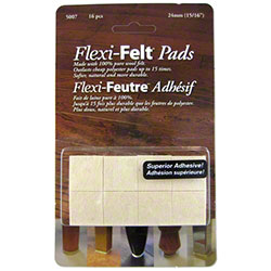 "PRO-LINK® Flexi-Felt Dark Wool Blend Pad - 15/16"" Square"