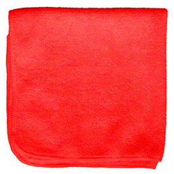 "Microfiber & More 16"" x 16"" Microfiber Cloth - Red"