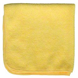 "Microfiber & More 16"" x 16"" Microfiber Cloth - Yellow"