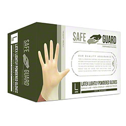 SafeGuard Latex Glove - Large, Powdered