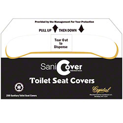 Crystal Ware SaniCover Toilet Seat Cover