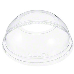 "Dart Clear Dome Lid w/1.9"" Hole For 12 oz to 26 oz Cups"