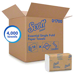 "Scott® Essential Single-Fold Towels - 9.3"" x 10.5"""