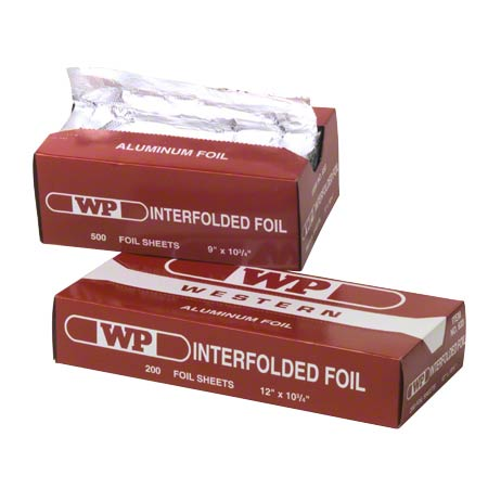 "Western Plastics Interfolded Foil Sheets - 9"" x 10 3/4"", Sil"