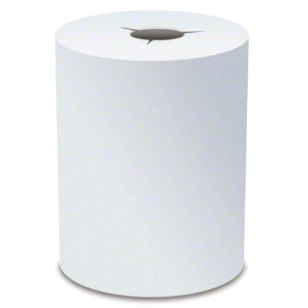 """Von Drehle White Starcut Hardwound Towel - 7.9"""" x 600'"""