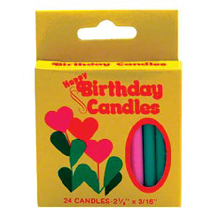 Plain Birthday Candle - Assorted Colors