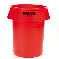 Rubbermaid® BRUTE® Vented Container - 44 Gal., Red