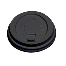 Empress™ Dome Lid For 10-20 oz. Hot Cup - Black